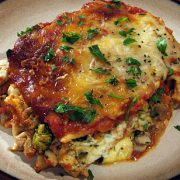 Lasagna with Turkey Italian Sausage and Vegetables