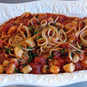Scallop and Shrimp Arrabbiata