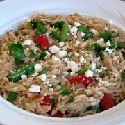 Orzo with Green Beans, Grape Tomatoes and Feta Cheese