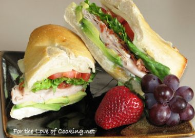 Turkey, Pancetta and Avocado Sandwich