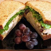 Chicken, Grape, and Walnut Salad Sandwich