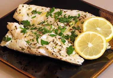 Orange Roughy with Lemon, Garlic and Basil