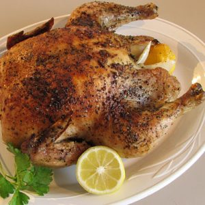 Lemon and Basil Slow Roasted Chicken