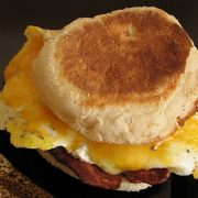 Egg and Turkey Bacon Breakfast Sandwich
