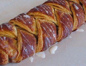 Danish Braids – Strawberry with Orange Vanilla Glaze and Cinnamon and Brown Sugar with Vanilla Glaze