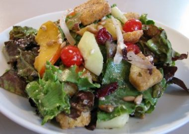 Nectarine and Goat Cheese Salad