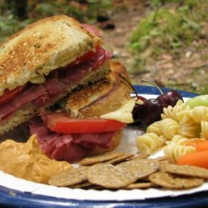Camping Cuisine – Pastrami and Swiss on Rye