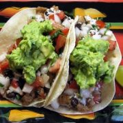 Pork Tacos with Fresh Pico de Gallo and Gaucamole