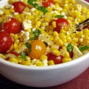 Corn, Tomato, Feta and Basil Salad