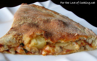 Mushroom, Pineapple and Basil Calzone