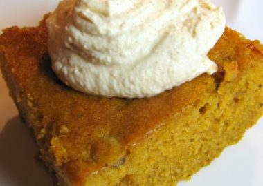 Pumpkin Spice Cake with Cinnamon Whipped Cream
