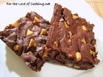 Cocoa Brownies with Peanut Butter Chips