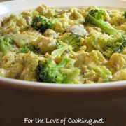 Chicken, Mushroom, Broccoli, and Rice Casserole