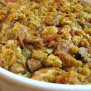 Stuffing with Mushrooms, Sausage and Bacon