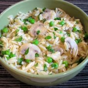 Orzo with Mushrooms, Peas, and Parmesan