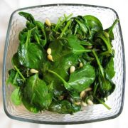 Spinach with Toasted Pine Nuts