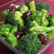 Broccoli with Kalamata Olives, Garlic and Lemon