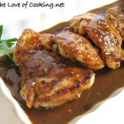 Chicken Thighs with a Balsamic and Garlic Sauce