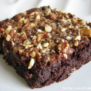 Cocoa Brownies with English Toffee