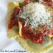 Wild Mushroom Agnolotti with Roasted Marinara Sauce