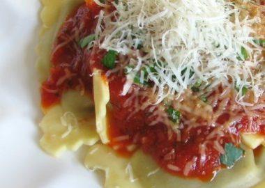 Wild Mushroom Agnolotti with Roasted Marinara Sauce