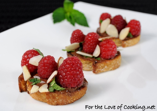 Chocolate Raspberry Bruschetta
