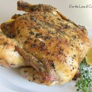 Lemon and Fresh Thyme Roasted Chicken
