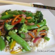 Sugar Snap and Beef Stir Fry
