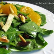 Spinach Salad with Soy Ginger Dressing