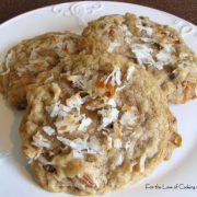 White Chocolate and Semi Sweet Chocolate Swirl Chip, Coconut, Pecan Cookies
