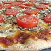 Extra Mushroom, Garlic and Fresh Tomato Pizza
