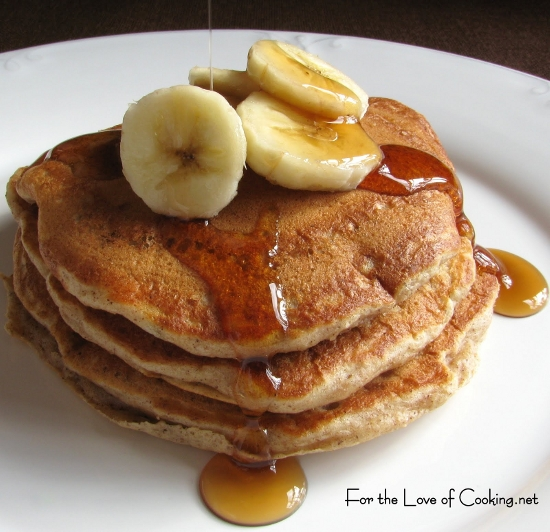 Cinnamon Banana Pancakes | For the Love of Cooking
