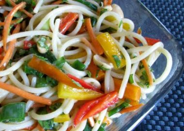 Spicy Peanut Asian Noodle Salad