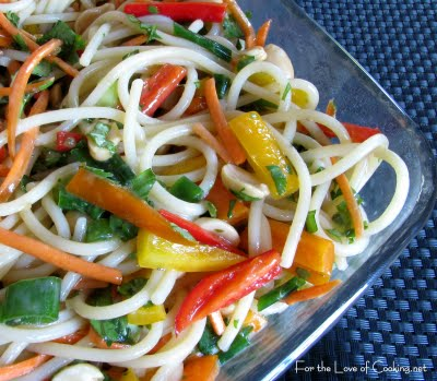 Spicy Peanut Asian Noodle Salad For The Love Of Cooking