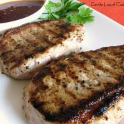 Pork Chops with a Sweet Chili Soy Sauce
