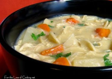 Creamy Roasted Chicken Noodle Soup