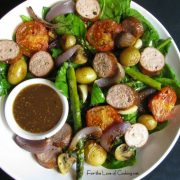 Warm Spinach Salad with Sausage and Potatoes
