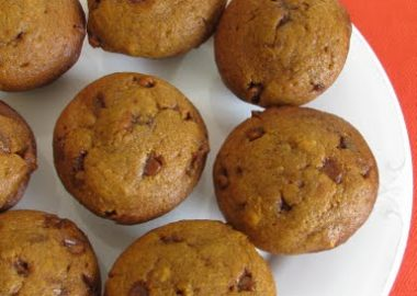 Pumpkin Muffins with Cinnamon Chips and Walnuts