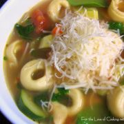 Vegetable Soup with Cheese Tortellini
