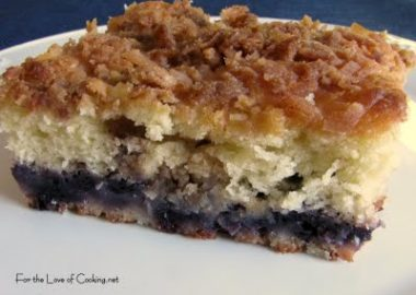 Blueberry and Coconut Coffee Cake