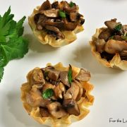 Brie and Caramelized Mushroom Mini Tarts