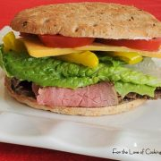 Roast Beef, Cheddar and Pepperoncini Sandwich