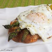 Roasted Asparagus and Steamed Egg on Toast