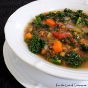 Lentil, Kale and Bacon Soup