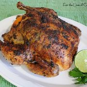 Slow Roasted Chicken with Cilantro-Citrus Butter