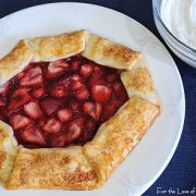 Strawberry Galette with Homemade Vanilla Whipped Cream