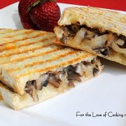 Caramelized Portobello and Onion Panini with Chaumes