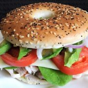 Turkey, Havarti, and Avocado Bagel Thin Sandwich