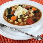 Turkey Italian Sausage, Kale, and Pasta Soup