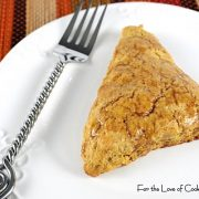 Pumpkin Scones with Spiced Glaze